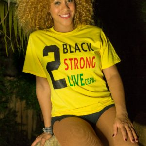2 Black 2 Live Yellow T